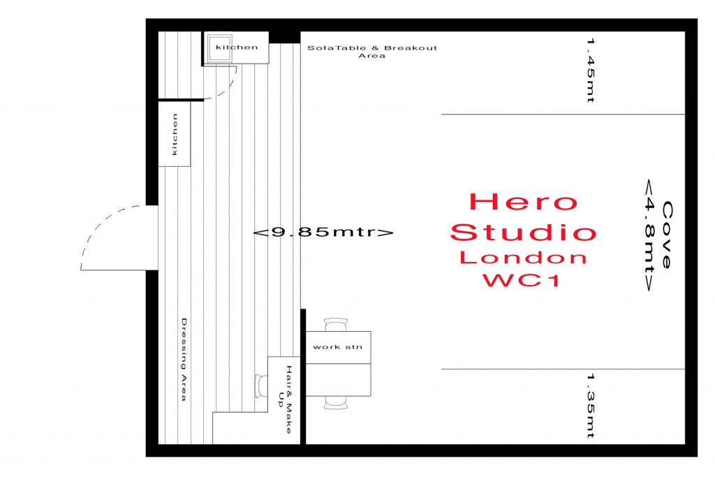 Hero Studio Floor Plan